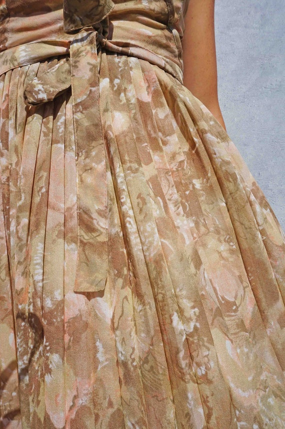 Green Floral Wedding Guest Dress, Soft Green Two … - image 2