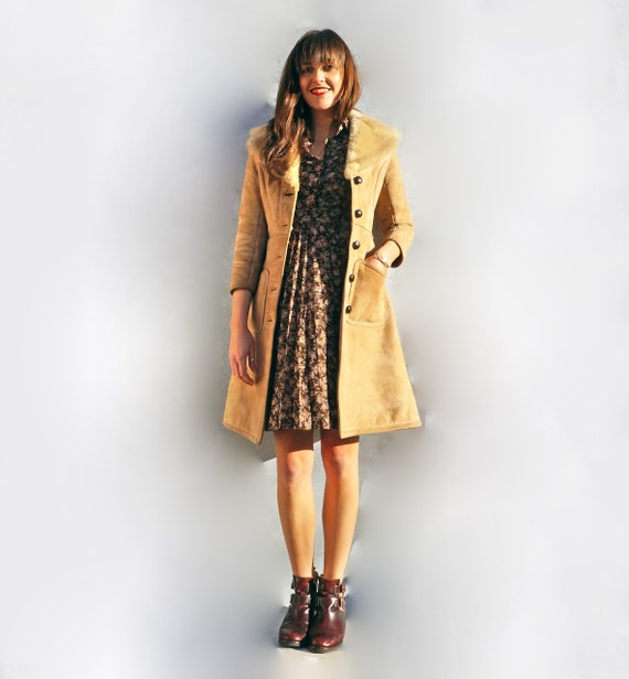 Fawn Penny Lane Sheepskin Shearling Coat