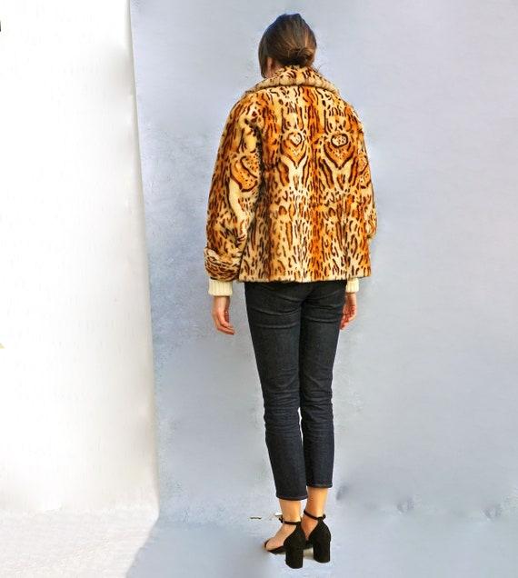 Boho Leopard Print Coat, Vintage Animal Print Fau… - image 6