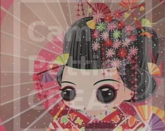 Geisha with sunshade