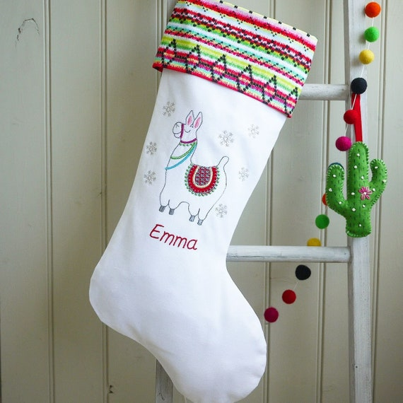 Llama Christmas Decorations.Llama Christmas Stocking Personalised Christmas Stockings Llama Christmas Decorations Llama Stocking Personalised Llama Gifts