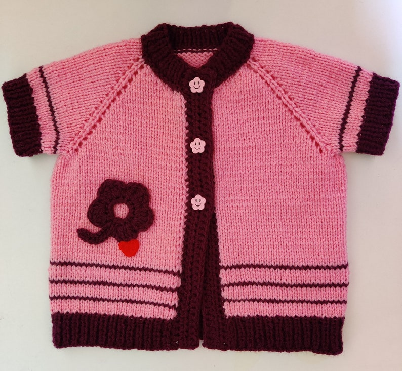 Hand made    knitted  tunic-vest  for girls. image 0