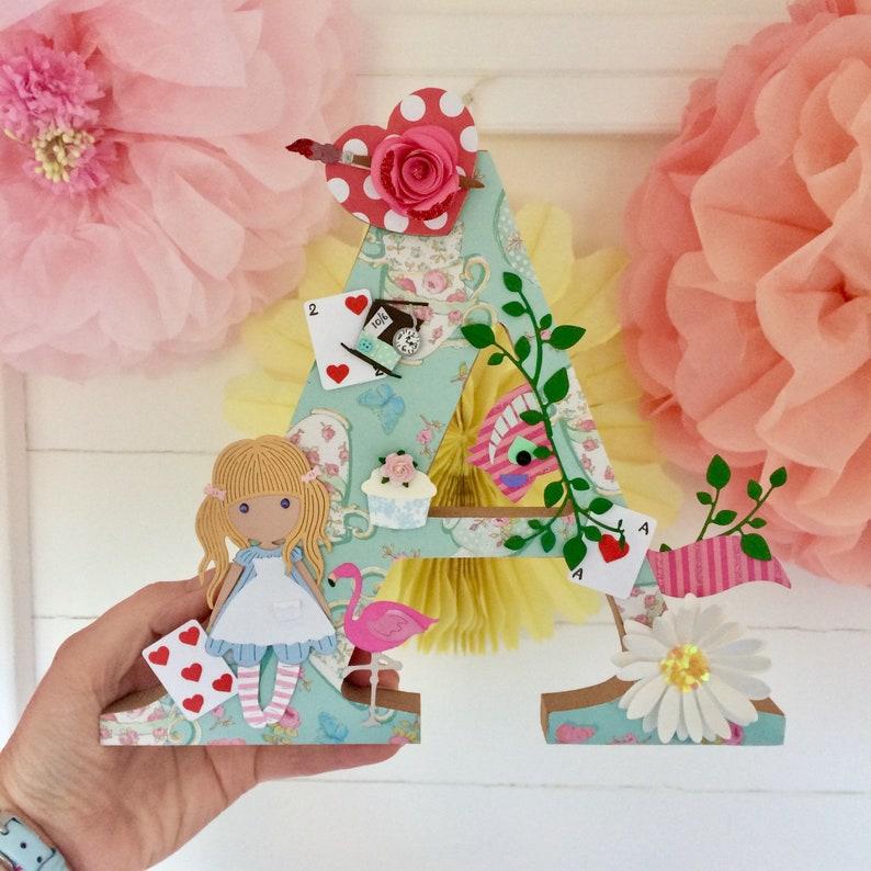 Alice in Wonderland letter 'A' nursery decor image 0