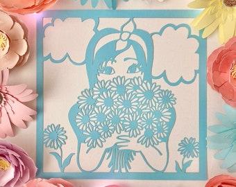 Alice in Wonderland Paper cuts, wall art, bedroom, home decor SAMPLE SALE 7 designs