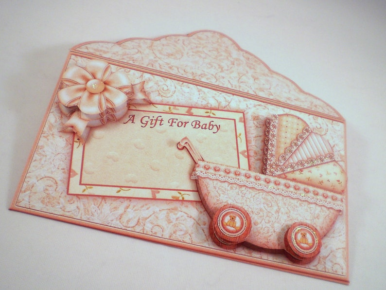 Gift Card Wallet for new baby or baby shower,neutral colours