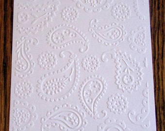 PAISLEY PRINT Embossed Card Stock Panels Perfect for Scrapbooking and Card Making - Set of 12