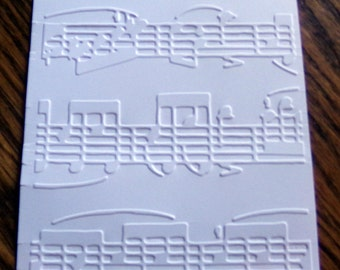 ALLEGRO Sheet Music Embossed Card Stock Panels Perfect for Scrapbooking and Card Making - Set of 12