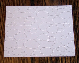 CLOUDY DAY Embossed Card Stock Panels Perfect for Scrapbooking and Card Making - Set of 12