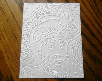 ACANTHUS Floral Embossed Card Stock Panels Perfect for Scrapbooking and Card Making - Set of 12
