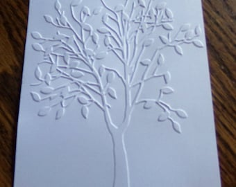 TREE WITH LEAVES Embossed Card Stock Panels Perfect for Scrapbooking and Card Making - Set of 12