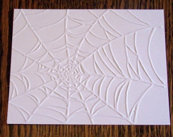 SPIDER WEB Embossed Card Stock Panels Perfect for Scrapbooking and Card Making - Set of 12