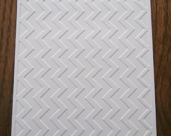 CHEVRON Embossed Card Stock Panels Perfect for Scrapbooking and Card Making - Set of 12