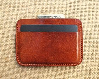 Leather credit card, handmade minimalist wallet, thin wallet, slim wallet