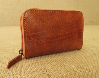 fa36134c56d2 Leather zip around small wallet