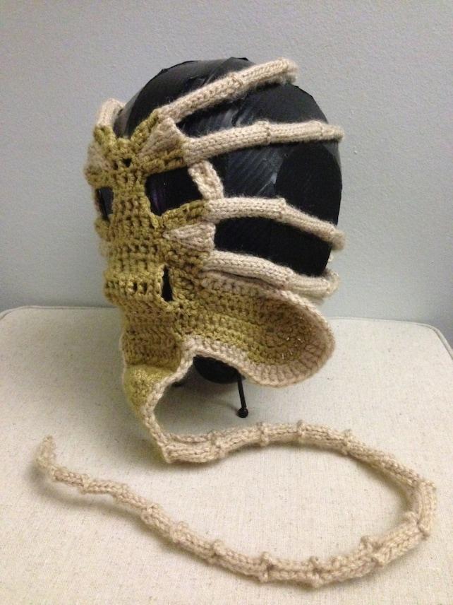 Xenomorph Alien Facehugger Face Warmer Pdf Pattern Etsy