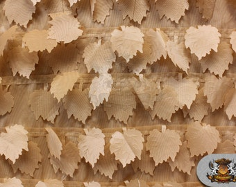 "60/"" Wide Sold by the yard Taffeta Bark Leaves Fabric OLIVE"