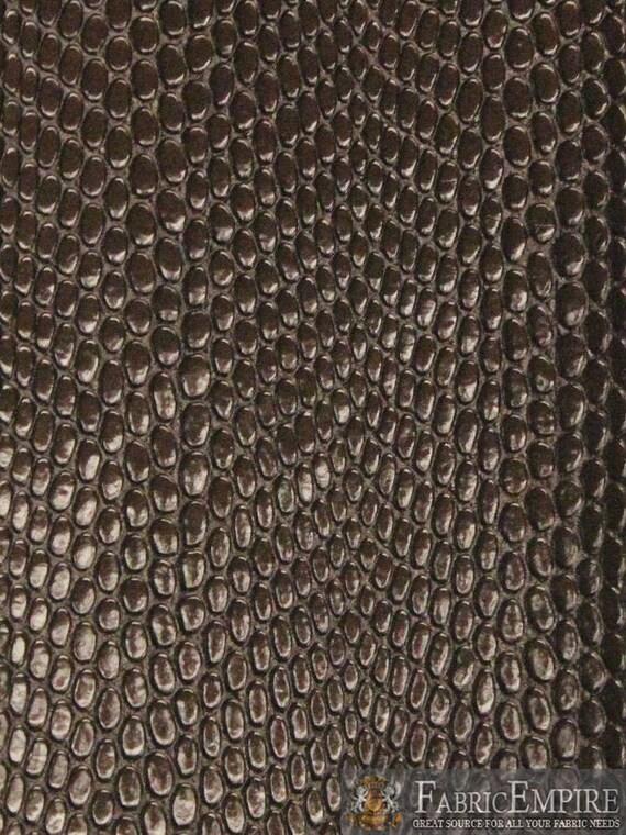 Vinyl Upholstery Embossed Texture Fabric Cobra Snake Chocolate Etsy