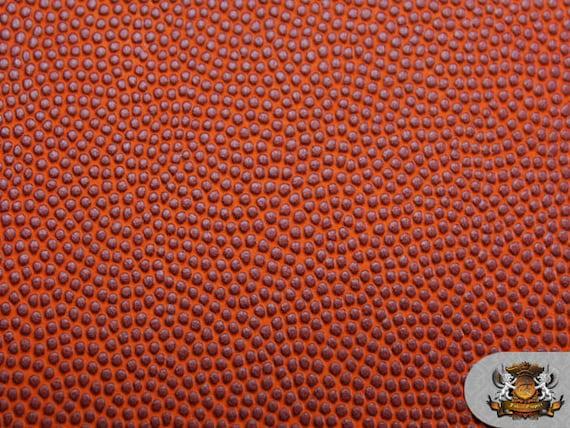 Vinyl Basketball Orange Fake Leather Upholstery Fabric