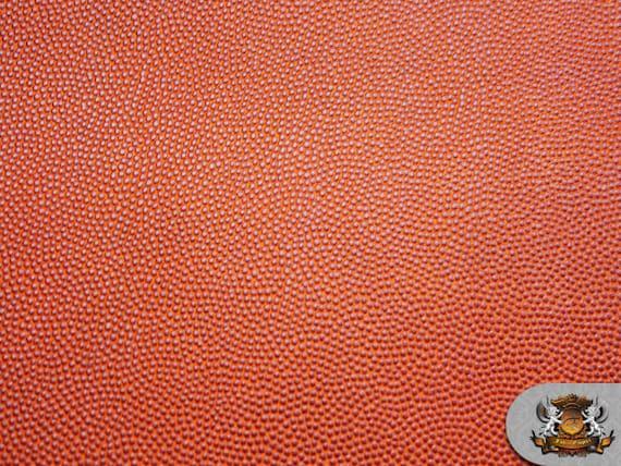 Vinyl Basketball 56 Wide Orange Fake Leather Upholstery Etsy