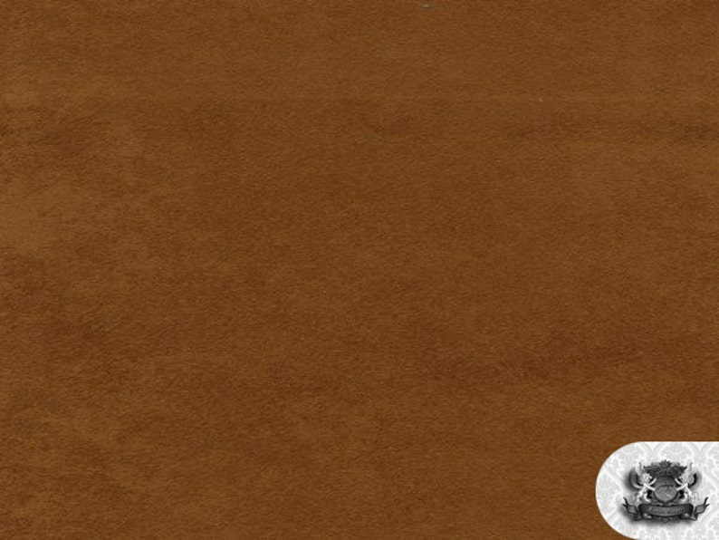 """Rust Micro Suede Upholstery and Drapery Fabric 60/"""" Wide Sold By The Yard"""