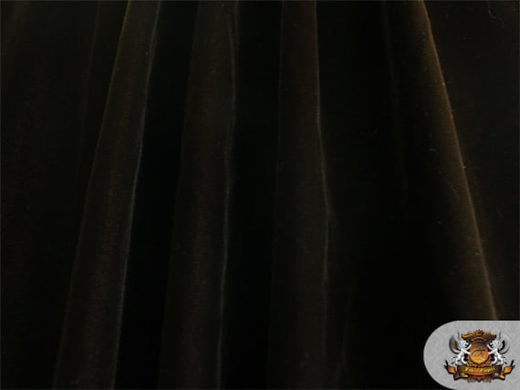 27bfe3a4406 Double Velvet Dark Brown Fabric   44 Wide   Sold By The   Etsy