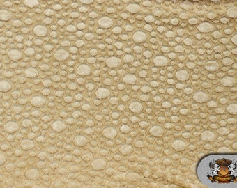 """Minky BUBBLE CAMEL Fabric / 58"""" Wide / Sold by the Yard"""