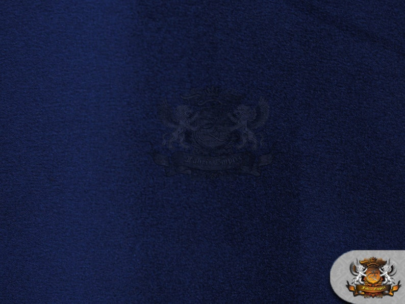 """Sold by the yard 58/"""" Wide Poly Silk Satin Fabric NAVY BLUE"""