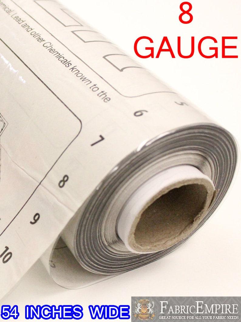 8 Gauge Clear Vinyl Plastic Fabric 54