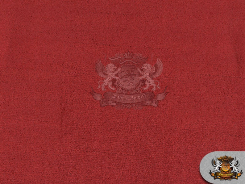 Velvet Upholstery Drapery Medium Shine ELEGANCE Fabric 12 CRIMSON  55 Wide  Sold by the yard