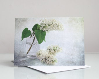 Photo greeting card. Floral greeting card. Flower greeting card. Lilac Photographic Greeting Card. Blank card