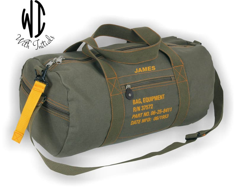 3c1039800d97 Personalized large cotton canvas military Equipment Duffel Bag