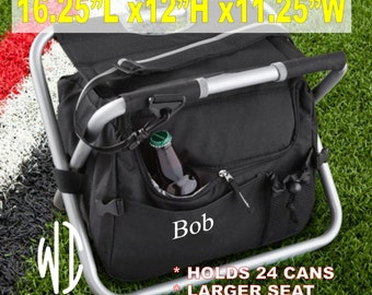 6, Large, personalized, insulated cooler, Seat, Cooler bag, food bag, picnic bag, polyester seat, heavy weight, Gift for Him, Groomsmen Gift