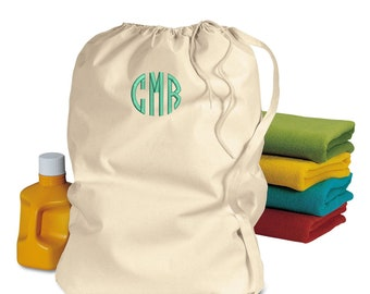 Personalized Large laundry bag, Camp bag, Monogram laundry bag, College student, FREE monogram