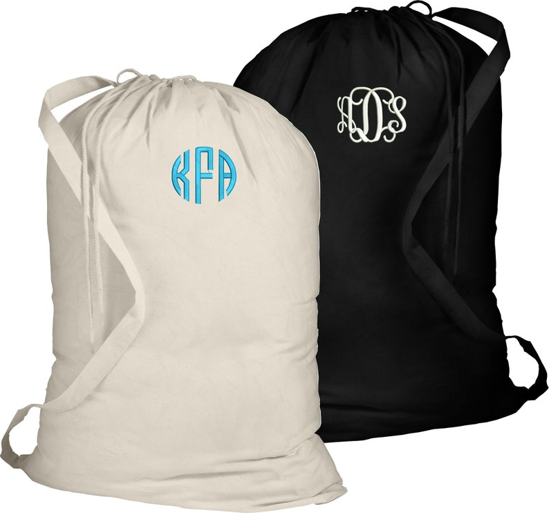 6917f1b24b0a Personalized Large laundry bag, Camp bag, Name or initials laundry bag,  college gift, student gift, kids clothes bag, FREE monogram
