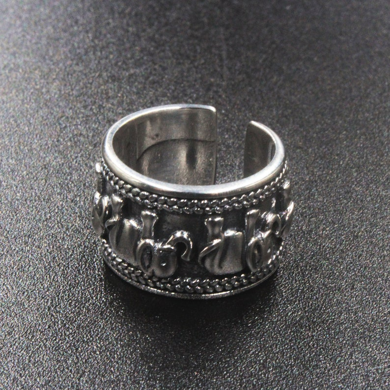 US 5-8 Vintage Retro Silver Elephant Joint Knuckle Rings Open Elephant  Adjustable Ring 925 Sterling Silver Band Sizes