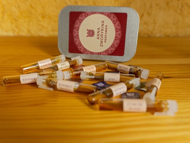 Natural perfume sample set 10   sampler pack  of ten 05 ml image 0