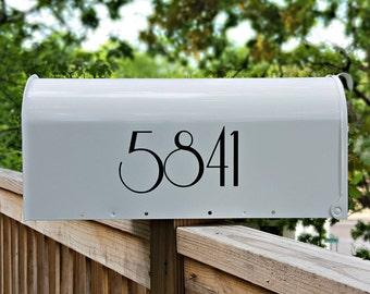 Art Nouveau Mailbox Numbers (2 sets)   Custom Mailbox Decals