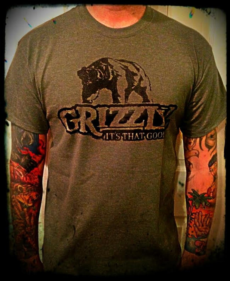 Grizzly dip Snuff Tobacco T shirt army green all sizes