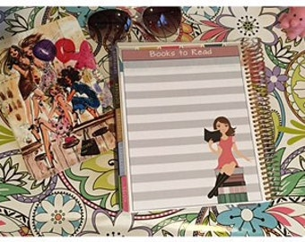 Erin Condren Life Planner Girls Women Full Page Notes Page Sticker - Books to Read