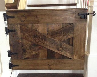 Barn Door Baby Gate Etsy