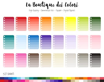 50 rainbow ombre checklist clipart cute graphics png heart check list to do task reminder clip art planner stickers commercial use