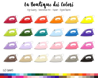 43 Doodle Clothes Iron Clipart Personal and comercial use.