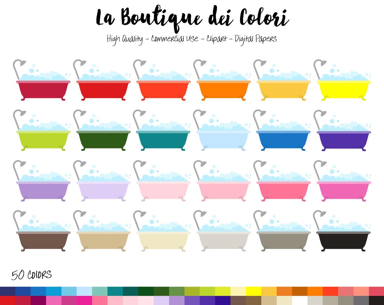 50 Rainbow Bath tub Clipart Cute bubble bath Digital | Etsy