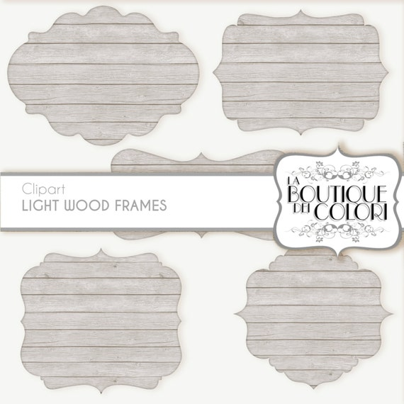 white Wood Frames Clipart: Wooden labels distressed wood | Etsy