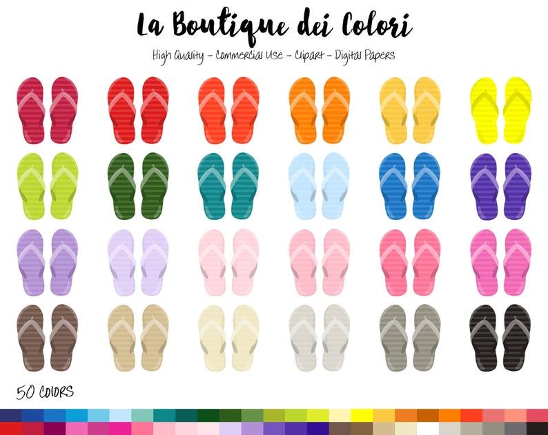 3b0a1c87e 50 Rainbow Beach Sandals Clipart Cute Digital illustrations