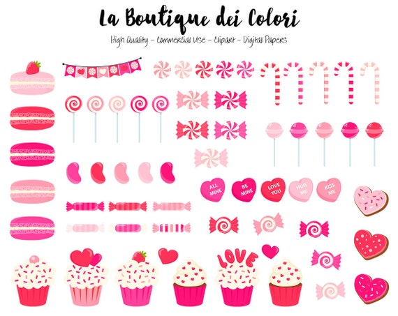 Pink Valentine S Day Candy Clipart Cute Graphics Png Sweets