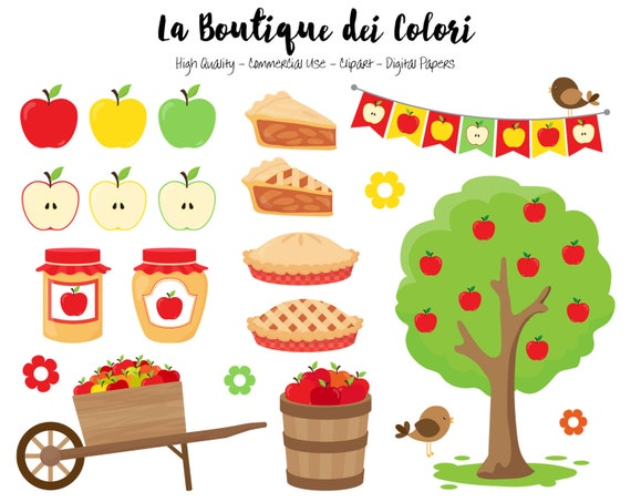 apple picking clipart cute illustrations png fall autumn etsy rh etsy com apple picking clipart free Apple Tree Clip Art