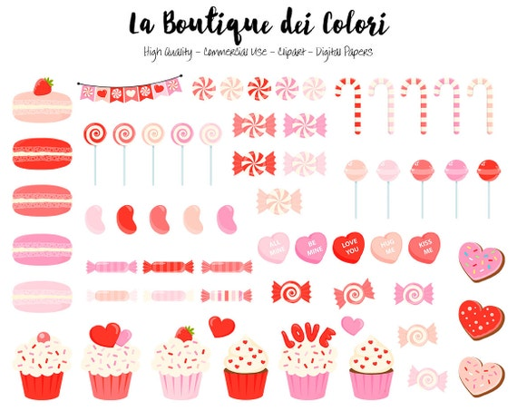 Red Valentine S Day Candy Clipart Cute Graphics Png Sweets