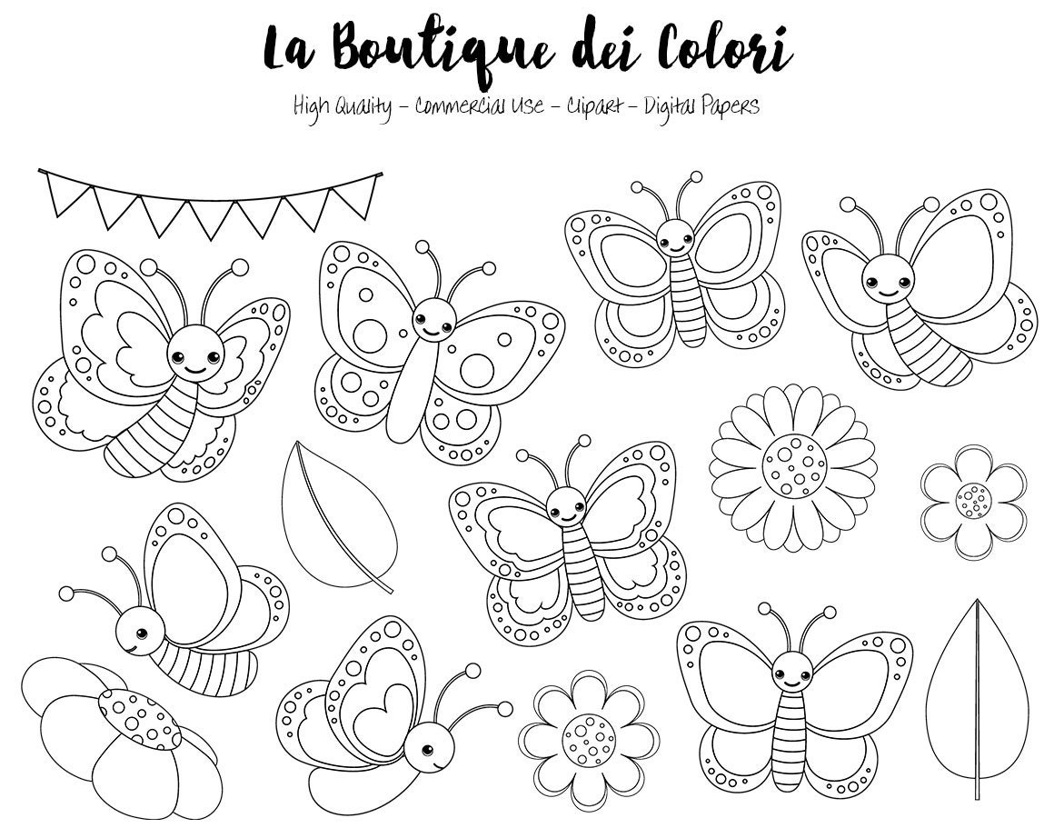 Pastel mariposa Digital sellos Imágenes Prediseñadas, Linda PNG ...