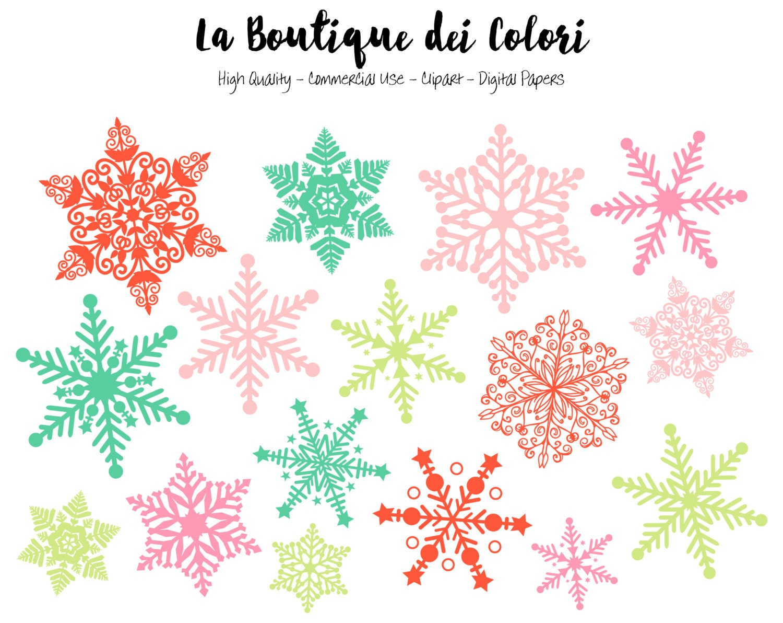 Weihnachten Schneeflocke Clipart niedlichen Grafiken PNG   Etsy